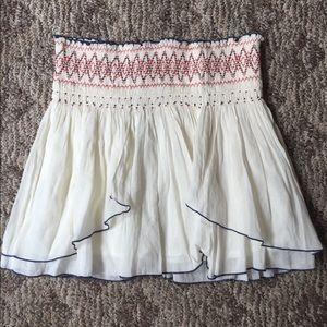 Free People NWT Boho White Beaded Skirt - Medium